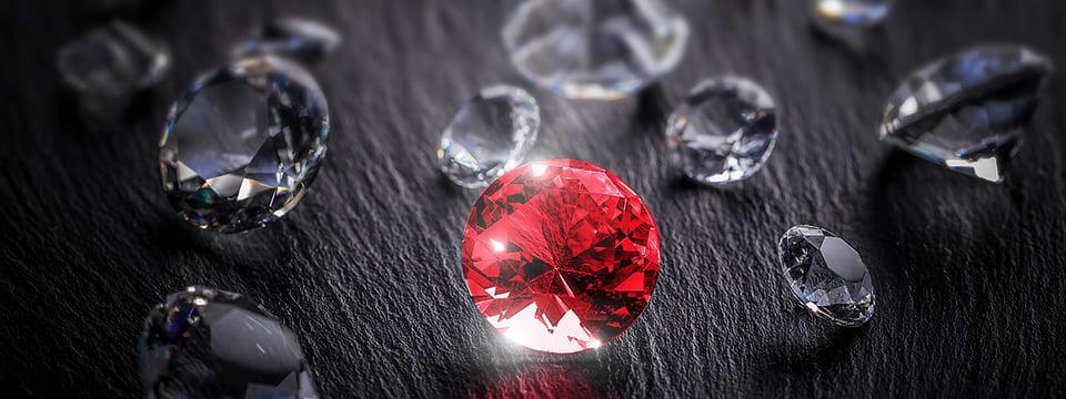Rubine und Diamanten